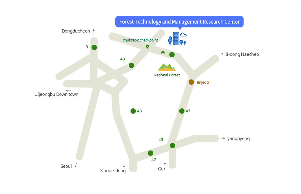 Forest Technology and Management Research Center map